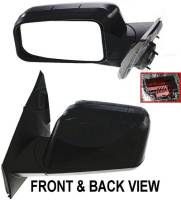 Mirrors - Ford - Kool Vue - 07 FORD EDGE  MIRROR LH, Power, Heated, Manual Folding, Memory, w/ Puddle Lamp, Smooth Black, Paint to