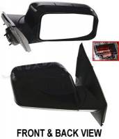 Mirrors - Ford - Kool Vue - 07 FORD EDGE  MIRROR RH, Power, Heated, Manual Folding, Memory, w/ Puddle Lamp, Smooth Black, Paint to