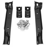 Key Parts Classic Truck Bumpers - Chevy/GMC - Key Parts - 67-70 Chevrolet/GMC C-10/GMC 4WD Front Bumper Bracket  4PC Set