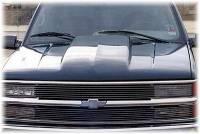 Reflexxion Cowl Induction Hoods - Reflexxion Chevy & GMC Truck Cowl Induction Hoods - Reflexxion - 88-98 Chevy GMC CK Truck Reflexxion Steel Cowl Induction Hood #701600