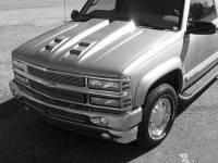 Reflexxion Cowl Induction Hoods - Reflexxion Chevy & GMC Truck Cowl Induction Hoods - Reflexxion - 88-98 Chevy GMC CK Truck Reflexxion Steel Dual Cowl Ram Air Style Induction Hood #701603