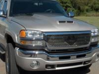 Reflexxion Cowl Induction Hoods - Reflexxion Chevy & GMC Truck Cowl Induction Hoods - Reflexxion - 99-06 GMC Sierra 1500, 2500, 3500 HD Truck Reflexxion Steel Ram Air Style Cowl Induction Hood #703601