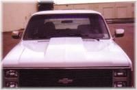 Reflexxion Cowl Induction Hoods - Reflexxion Chevy & GMC Truck Cowl Induction Hoods - Reflexxion - 81-87 Chevrolet GMC Truck Reflexxion Steel Cowl Induction Hood #704600