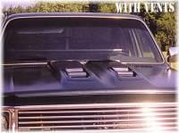 Reflexxion Cowl Induction Hoods - Reflexxion Chevy & GMC Truck Cowl Induction Hoods - Reflexxion - 73-80 Chevrolet GMC Truck Reflexxion Steel Dual Cowl Ram Air Style Cowl Induction Hood #705601