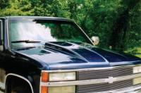 Reflexxion Cowl Induction Hoods - Reflexxion Chevy & GMC Truck Cowl Induction Hoods - Reflexxion - 88-98 Chevy GMC CK Truck Reflexxion Widebody Steel Cowl Induction Hood #706600