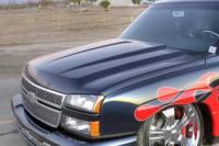 Reflexxion Cowl Induction Hoods - Reflexxion Chevy & GMC Truck Cowl Induction Hoods - Reflexxion - 05-06 Chevy Silverado 2500/3500 HD & 06 Silverado 1500 & 07 Chevy Silverado 2500/3500 HD (Classic Body Style) Reflexxion Steel Cowl Induction Hood #708600