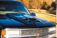 Reflexxion Cowl Induction Hoods - Reflexxion Chevy & GMC Truck Cowl Induction Hoods - Reflexxion - 92-99 Chevrolet GMC Suburban & 95-99 Chevy Tahoe GMC Yukon Widebody Cowl Ram Air Style Cowl Induction Hood #706601
