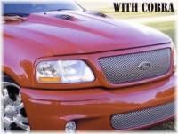 97-03 Ford F-150, 04 F-150 Heritage Truck Reflexxion Steel Cobra Style Cowl Induction Hood #702700