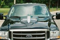 Reflexxion Cowl Induction Hoods - Reflexxion Ford Truck Cowl Induction Hoods - Reflexxion - 99-07 Ford F-250 F-350 Superduty Truck Reflexxion Steel Eagle Style Cowl Induction Hood #703701