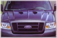 Reflexxion Cowl Induction Hoods - Reflexxion Ford Truck Cowl Induction Hoods - Reflexxion - 04-08 Ford F-150 Truck Reflexxion Steel Cobra Style Cowl Induction Hood #705701