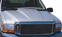 Reflexxion Cowl Induction Hoods - Reflexxion Ford Truck Cowl Induction Hoods - Reflexxion - 00-05 Ford Excursion Reflexxion Steel Cowl Induction Hood #703700