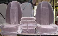 Custom C-200 Tri-Way Seats - Ford Truck Seats - DAP - 80-98 Ford F-250/F-350 Reg/Ext or Crew Cab with Original OEM Bench Seat C-200 Dark Gray Cloth Triway Seat