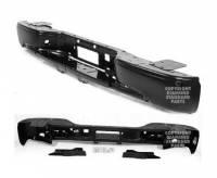 00-06 Cadillac Escalade Impact Bar Assembly w/Hitch Reflexxion Black/Paintable Step Bumper