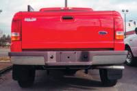 Reflexxion Rear Step Bumpers - Ford - Reflexxion - 93-11 Ford Ranger Pickup Styleside w/Black Pads Reflexxion Chrome Step Bumper