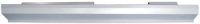 Rocker Panels - Dodge - Key Parts - 87-94 Dodge Shadow 4 Door Slip On LH Drivers Side Rocker Panel