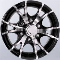 "Trailer Tires & Wheels - 15"" Trailer Wheels  - 15"" 6-Lug 5 Spoke T07 with Black Inlays Aluminum Trailer Wheel"