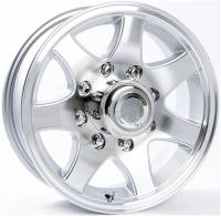 Trailer Tires & Wheels - 16 in. Trailer Wheels - 16 in. 8 Lug 7-Spoke Aluminum Trailer Wheel