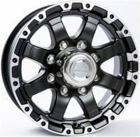 Trailer Tires & Wheels - 16 in. Trailer Wheels - 16 in. 8 Lug T08 Black Aluminum Trailer Wheel