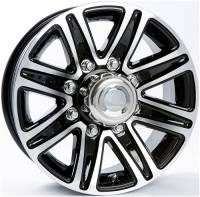 Trailer Tires & Wheels - 16 in. Trailer Wheels - 16 in. 8 Lug T09 Black Aluminum Trailer Wheel