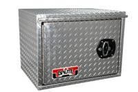 "Unique Brute Commercial Class Toolboxes - Under Body - Unique - Unique Brute HD 18"" x 18"" x 36""L HD Under Body, .100 thick diamond, barn door w/ 3 pt. latch"