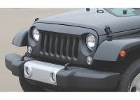 Cowl Induction Hoods - Jeep Wrangler Cowl Induction Hoods - ProMaxx 07-16 Jeep Wrangler JK Aggressive Flare Grille (Black Texture Coat-ABS)