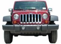 Cowl Induction Hoods - Jeep Wrangler Cowl Induction Hoods - ProMaxx 07-16 Wrangler JK Chrome Imposter Grille