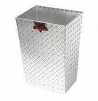 K&W Standard Toolboxes - Trailer Accessories - K&W - K&W Diamond Tread Aluminum Trash Can Trailer Garage