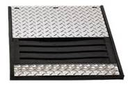 K&W Standard Toolboxes - Mud Flaps - K&W - K&W 19x24 Rubber Dually Mud Flaps with Diamond Insert for '80-'96 Ford F350 Dually Pickup