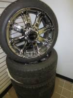 "Takeoff Wheels & Tires - Chevrolet & GMC Truck Wheels & Tires - '92-'2010 Chevy/GMC Silverado/Sierra 2500/3500, '03-'16 Chevy Van, 22"" 8 Lug American Racing Aftermarket Wheels & Falken Ziex S/TZ-05 Tires"