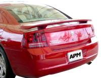 Spoilers - Dodge - APM - 06-10 Dodge Charger 2-post custom APM Plastic Spoiler w/o light