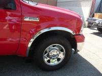 TFP - 99-07 Ford F-250/F-350 Super Duty TFP Stainless Steel Fender Trim (Front pair only)