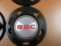 85-94 GMC Safari Van 15 in. Steel Wheel Black OEM Center Caps (Set of 4) - Image 2