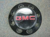 92-00 GMC CK Sierra 3500 Truck 8 Lug OEM Rear Dually Black Center Cap - Image 2