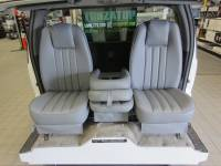 DAP - 80-98 Ford F-250/F-350 Ext Cab with Original OEM Bucket Seats V-200 Gray Vinyl Triway Seat - Image 2