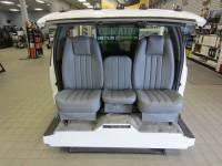 Custom C-200 Tri-Way Seats - Ford Truck Seats - DAP - 80-98 Ford F-250/F-350 Ext Cab with Original OEM Bucket Seats V-200 Gray Vinyl Triway Seat