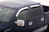 Rain Guards - Ford Rain Guards - 04-08 Ford F-150 AVS 4-Piece Tape-On Chrome Ventshade