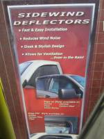 04-13 Chevy Colorado/GMC Canyon Crew Cab Stampede Tape-Onz 4-Piece Chrome Side Window Deflector - Image 3