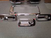 Chrome Door Handle Covers - Chevy/GMC Chrome Door Handle Covers - 03-14 Chevy Express/GMC Savanna Van Chrome Mirror & 3 Door Handle Cover Kit