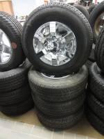 "Takeoff Wheels & Tires - Chevrolet & GMC Truck Wheels & Tires - 11-15 GMC Sierra 2500/3500 Denali 8 Lug 18"" OEM Polished Aluminum Wheels & Michelin LTX A/T 2 LT265/70/R18"