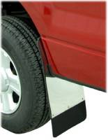 Mud Flaps - Ford Mud Flaps - 01-03 Ford F-150 Super Crew Luverne Traditional Stainless Steel Rear Splash Guards