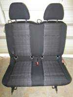 New and Used OEM Seats - Mercedes Benz Replacement Seats - 2016 Mercedes Benz Metris Van Black Cloth 2nd Row Bench Seat