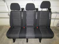 New and Used OEM Seats - Mercedes Benz Replacement Seats - 14-18 Mercedes Benz Sprinter Van 3-Passenger Black Cloth Rear Bench Seat