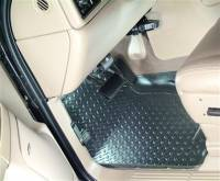 Floor Liners - Chevy/GMC - 04-06 Chevy Silverado/GMC Sierra Extended Cab w/Toolbox Under Seat Husky Black Front and Rear Floor Liners Set