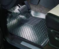 Floor Liners - Chevy/GMC - 07-13 Chevy Silverado/GMC Sierra Ext/Crew/Chevy/GMC SUV/Cadillac Escalade Husky Black Front and Rear Floor Liners Set