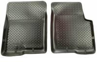 Floor Liners - Import - 05-07 Toyota Tundra Regular Cab/Sequoia Husky Black Front Floor Liners