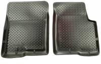 Floor Liners - Import - 07-09 Toyota Tundra (Reg/Dbl w/o under storage, Crew/Dbl w/) Husky Black Fronts and Front Center Hump Floor Liner Set