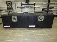 "Clearance Corner - Toolboxes - Weatherguard 64 1/4"" Super Hi-Side Black Diamond Plated Aluminum Truck Toolbox"