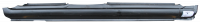 Rocker Panels - Kia - 98-01 Kia Sephia / 02-04 Kia Spectra Sedan Passenger's Side Rocker Panel