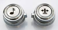 Auto Body Panels - Interior - 81-87 Chevy/GMC C/K / Suburban / Blazer AM/FM Cassette Radio Knob Set