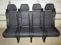 New and Used OEM Seats - Mercedes Benz Replacement Seats - 14-16 Mercedes Benz Sprinter Van 4-Passenger Black Leather Rear Bench Seat